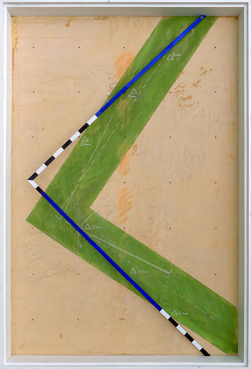 Pierre Courtois - Boîte technique mixte. 77 x 52 x 6 cm - 2021.